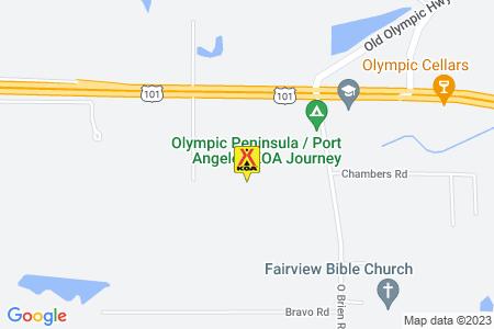 Olympic Peninsula / Port Angeles KOA Journey Map
