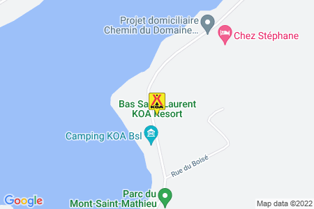 Bas Saint-Laurent KOA Map