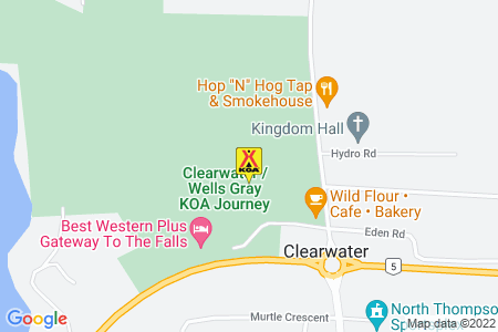 Clearwater / Wells Gray KOA Map