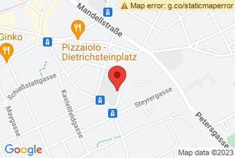 Karte mit Markierung auf Chemieersatzgebäude TU Graz, Stremayrgasse 9, 8010 Graz