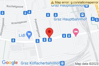 Karte mit Markierung auf Volksschule Reininghaus Graz, ,