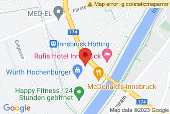 Karte mit Markierung auf HTL Bau und Design, Trenkwalderstraße 2, 6020 Innsbruck