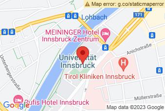 Karte mit Markierung auf Leopold-Franzens-Uni Innrain, Innrain 52a, 6020 Innsbruck