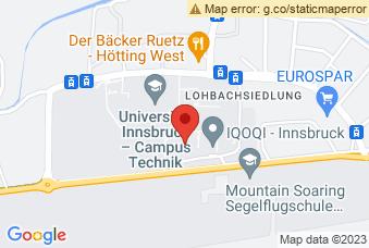Karte mit Markierung auf Fakultät für Architektur, Technikerstraße 21, 6020 Innsbruck