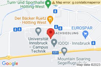 Karte mit Markierung auf Fakultät für Technische Wissenschaften, Technikerstraße 13, 6020 Innsbruck
