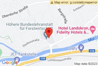 Karte mit Markierung auf HBLF Bruck/Mur, Dr.-Theodor-Körner-Straße 44, 8600 Bruck an der Mur