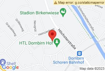 Karte mit Markierung auf HTL Dornbirn, Höchsterstraße 73, 6850 Dornbirn