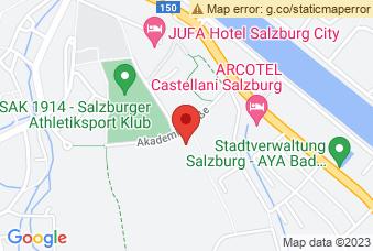 Karte mit Markierung auf PH Salzburg, ,
