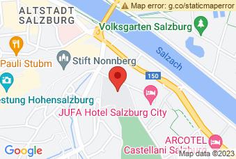 Karte mit Markierung auf Unipark Nonntal Salzburg, Erzabt-Klotz-Straße 1, 5020 Salzburg