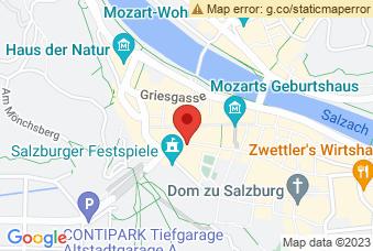 Karte mit Markierung auf Kollegienkirche, Universitätspl. 1, 5020 Salzburg