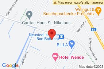 Karte mit Markierung auf BG/BRG Neusiedl am See, Bundesschulstraße 3, 7100 Neusiedl am See