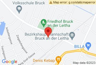 Karte mit Markierung auf BSZ Bruck an der Leitha, ,