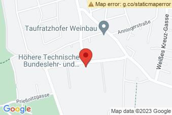 Karte mit Markierung auf HTBLVA Mödling, Technikerstraße 1-5, 2340 Mödling