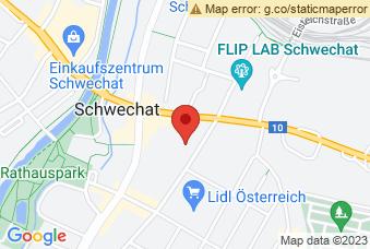 Karte mit Markierung auf BG/BRG Schwechat, Ehrenbrunngasse 6/7, 2320 Schwechat