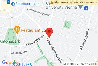 Karte mit Markierung auf Laaerberg Gymnasium, Laaer-Berg-Straße 25-29, 1100 Wien