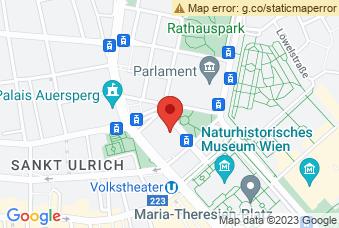 Karte mit Markierung auf Justizpalast, Schmerlingplatz 10, 1010 Wien
