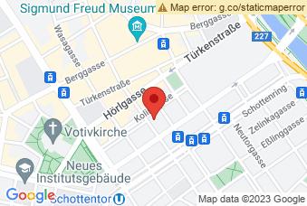 Karte mit Markierung auf Universität Wien Kolingasse, ,