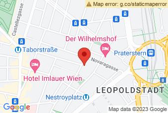 Karte mit Markierung auf BG Zirkusgasse, Zirkusgasse 46-48, 1020 Wien