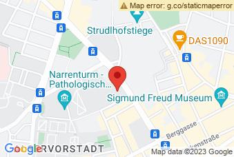 Karte mit Markierung auf Josephinum Wien, ,