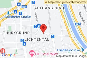 Karte mit Markierung auf Arbeits- & Sozialgericht Wien, Althanstraße 39-45, 1090 Wien
