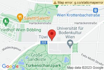 Karte mit Markierung auf TÜWI Wien, Peter-Jordan-Straße 76, 1190 Wien