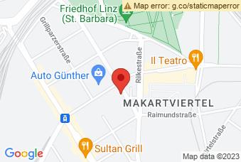 Karte mit Markierung auf BRG Linz, Hamerlingstraße 18, 4020 Linz