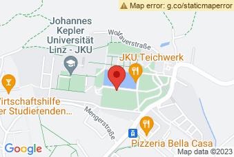 Karte mit Markierung auf JKU Campus Linz, Altenbergerstraße 69, 4040 Linz