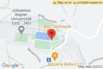 Karte mit Markierung auf JKU Juridicum Linz, Altenbergerstraße 69, 4040 Linz