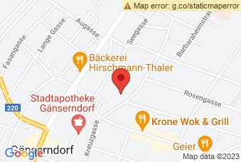 Karte mit Markierung auf BG/BRG Gänserndorf, Gärtnergasse 5-7, 2230 Gänserndorf