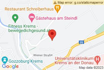 Karte mit Markierung auf BHAK/BHAS Krems, Langenloiser Str. 22, 3500 Krems/Donau