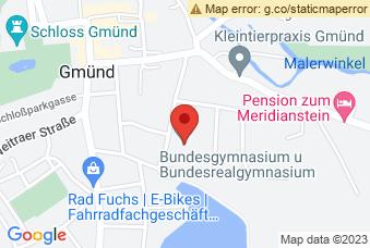 Karte mit Markierung auf BG/BRG Gmünd, Gymnasiumstraße 5, 3950 Gmünd