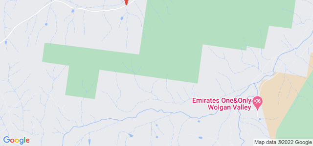 Emirates One&Only Wolgan Valley location on map