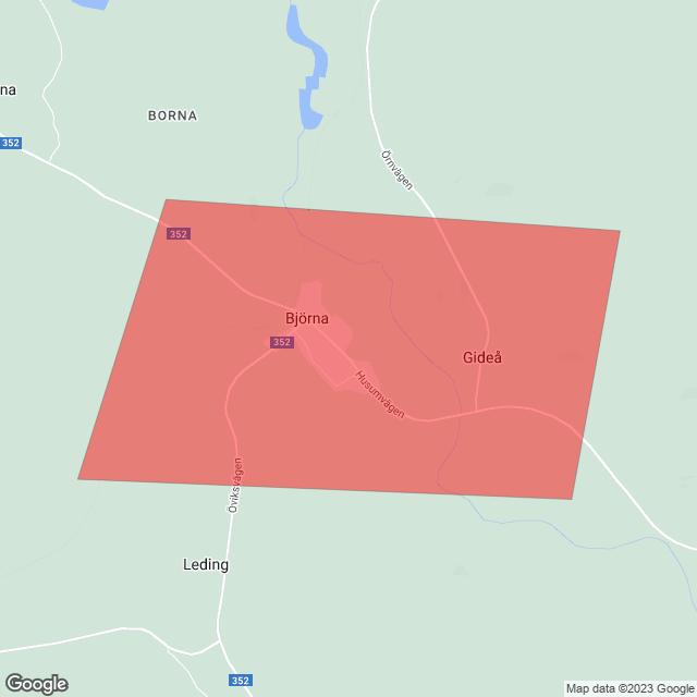 Karta över berört område/områden