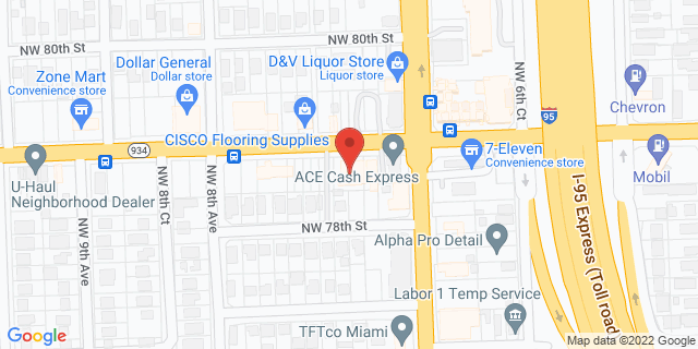 ACE Cash Express Miami 700 NW 79th St 33150 on Map