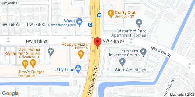 ACE Cash Express Sunrise 4391 N University Dr 33351 on Map