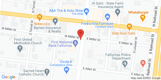 National Bank Falfurrias 200 S St Marys St 78355 on Map