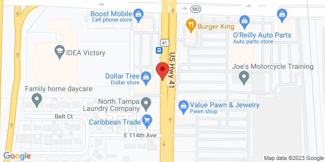 ACE Cash Express Tampa 11616 N Nebraska Ave 33612 on Map