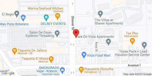 Pasadena 3360 Shaver St 77504 on Map
