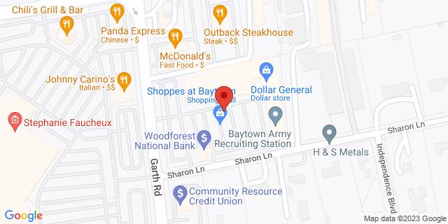 National Bank Baytown 6902 Garth Rd 77521 on Map