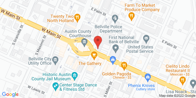 National Bank Bellville 100 E Main St 77418 on Map