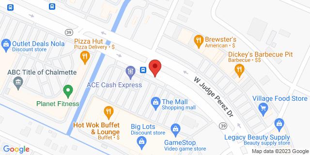 ACE Cash Express Chalmette 8720 W Judge Perez Dr 70043 on Map