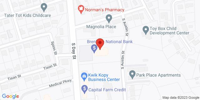 National Bank Brenham 2211 S Day St 77833 on Map