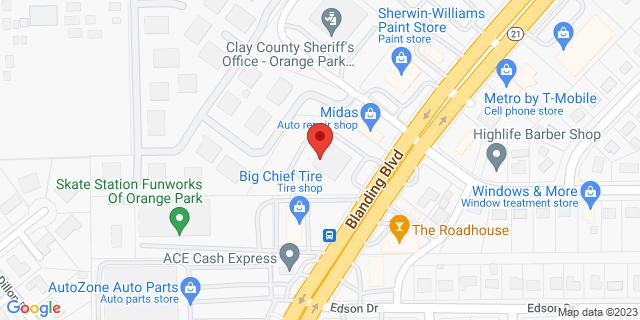 ACE Cash Express Orange Park 246 Blanding Blvd 32073 on Map