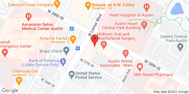 National Bank Austin 911 W 38th St 78705 on Map