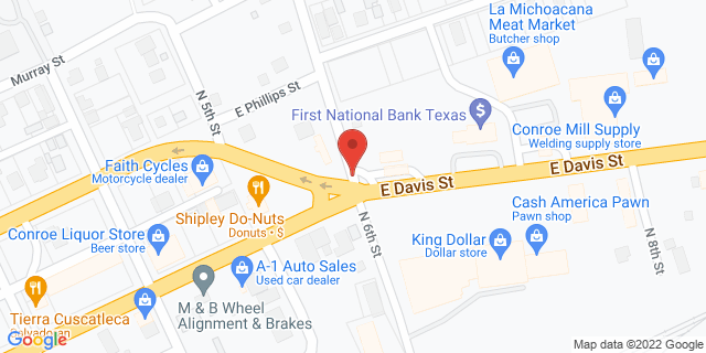 National Bank Conroe 704 E Davis St 77301 on Map