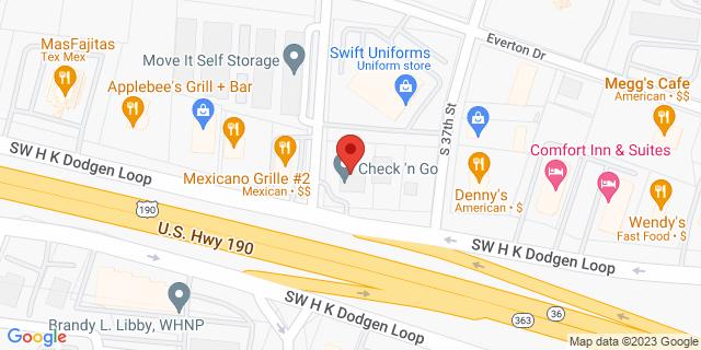 Temple 1616 Sw H K Dodgen Loop 76504 on Map