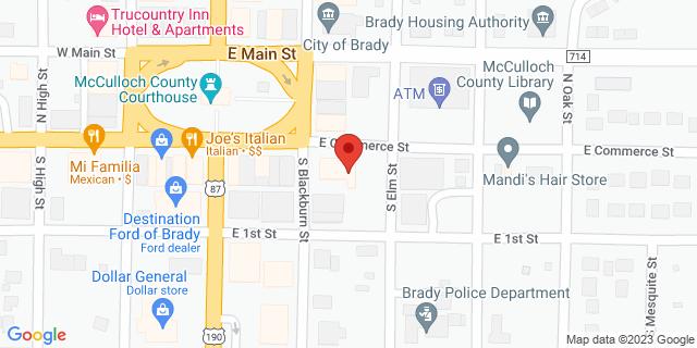 National Bank Brady 101 S Blackburn St 76825 on Map