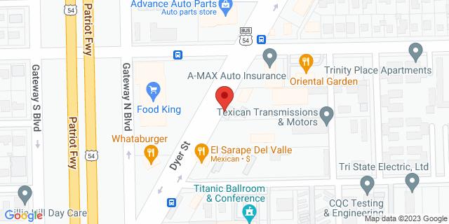 ACE Cash Express El Paso 8220B Dyer St 79904 on Map