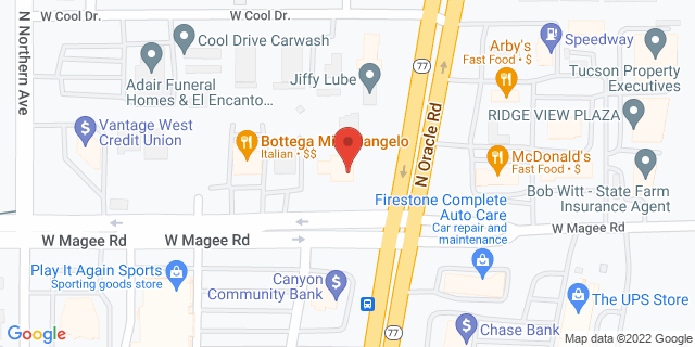Citibank Oro Valley 8001 NORTH ORACLE ROAD 85704 on Map