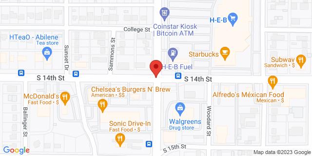 National Bank Abilene S 14th St & Barrow St 79605 on Map